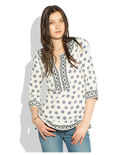AINSLEY PRINTED TUNIC, NATURAL MULTI