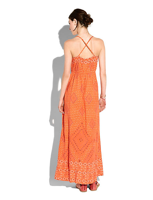 EMBELLISHED MAXI DRESS, ORANGE MULTI