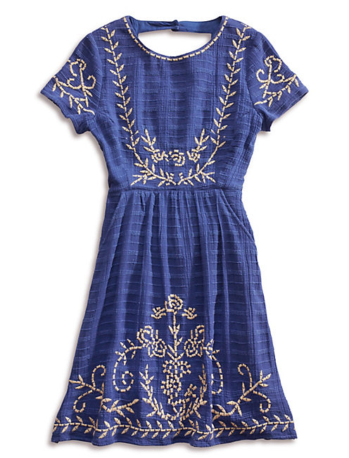 MARLEIGH BLUE DRESS, BLUE MULTI