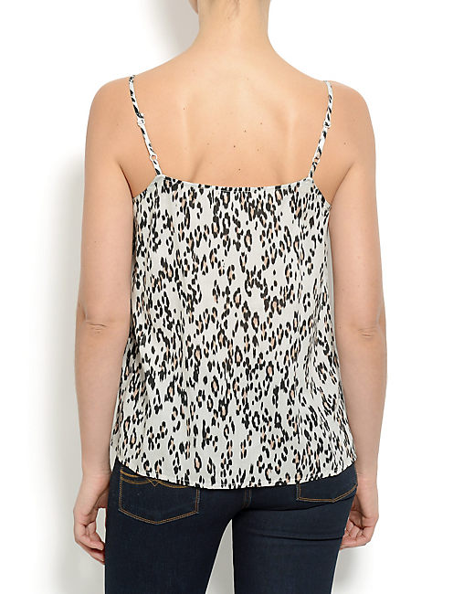 LEOPARD BRAIDED TANK, NATURAL MULTI