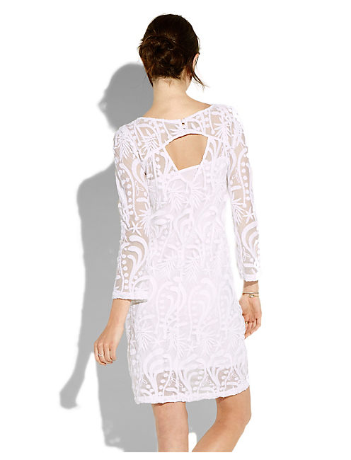 LACE SHIFT DRESS, #2413 NIGORI