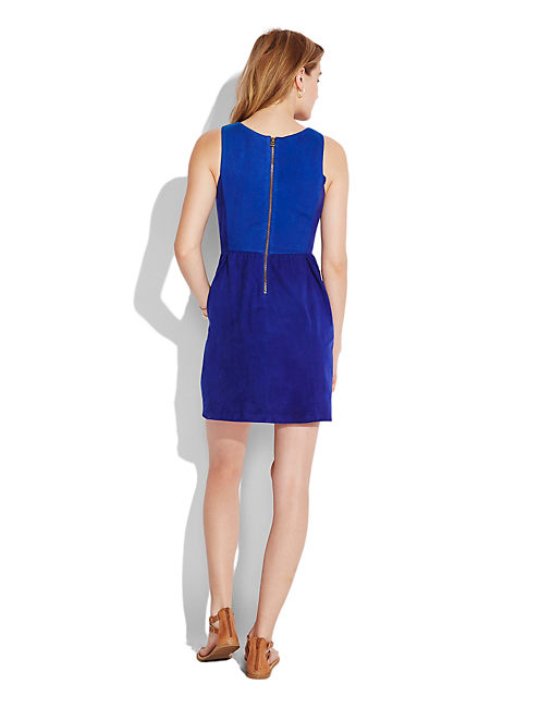 COBALT SUEDE DRESS, 456 COBALT