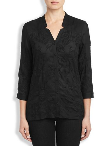 DARCEY EMBROIDERED TOP