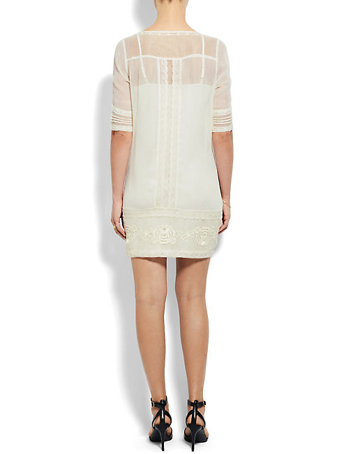 LYDIA EMBROIDERED DRESS, #2413 NIGORI