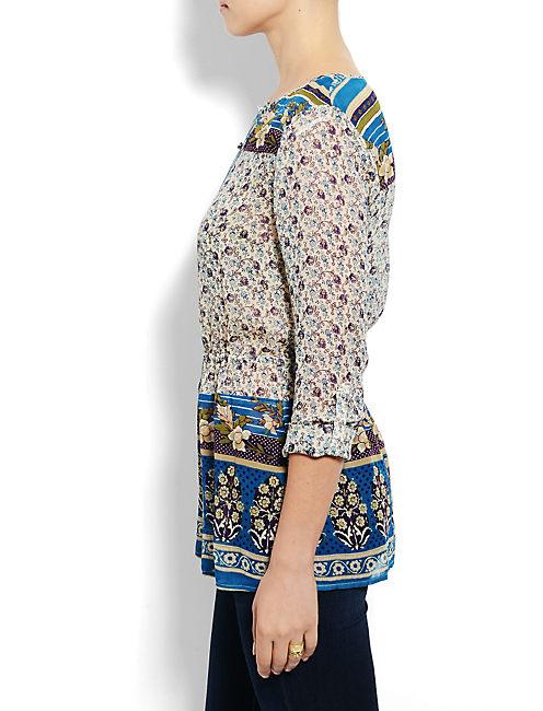 SAVANNAH GYPSY TOP, BLUE MULTI