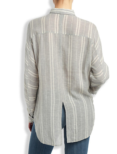 LUCKY GREY STRIPE SHIRT