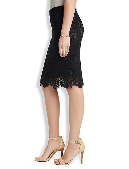 BLACK LACE SKIRT, 001 LUCKY BLACK