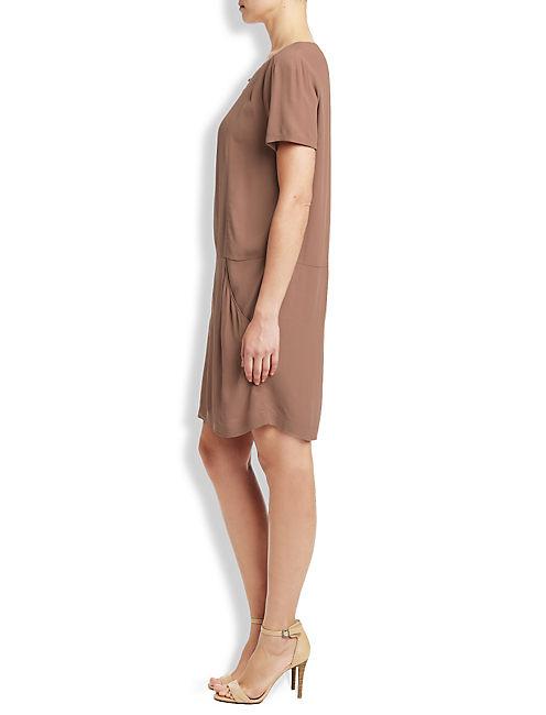 SHIFT DRESS, MOCHA MOUSSE