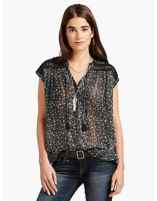 LUCKY FLORAL INSET TOP