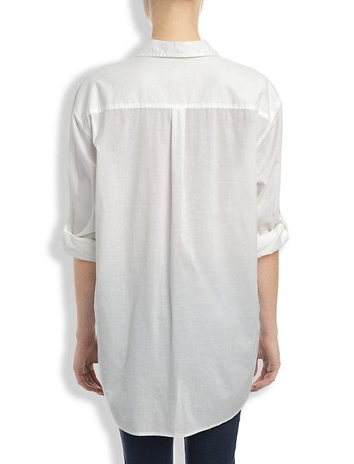 WHITE HENLEY SHIRT, LUCKY WHITE