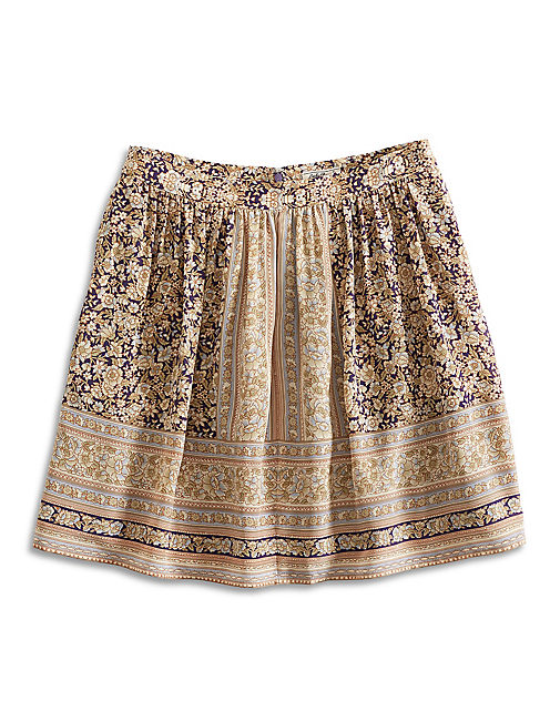 PRINTED MINI SKIRT, NATURAL MULTI