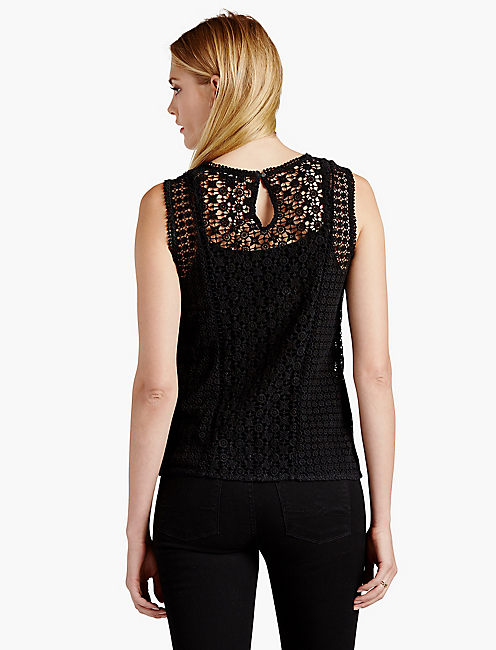 LACE SHELL, 001 LUCKY BLACK