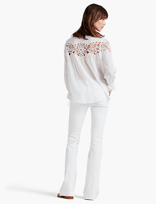 CUT OUT LACE TOP,