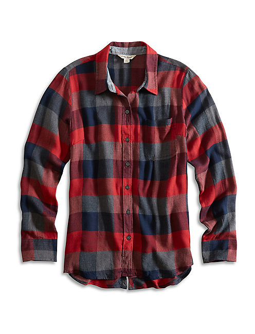 BUNGALOW FLANNEL, RED MULTI