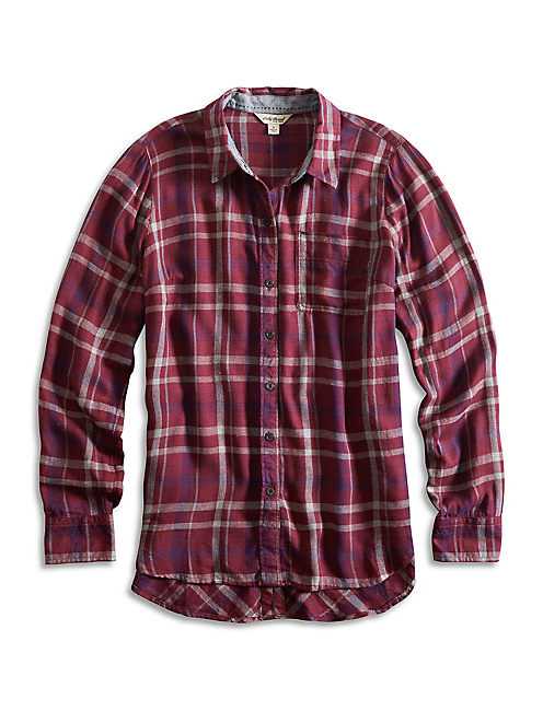 BUNGALOW FLANNEL, RED PLAID