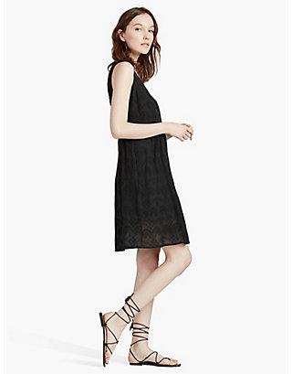LUCKY BLACK EYELET DRESS