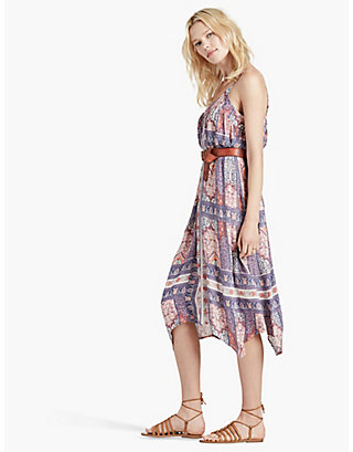 LUCKY TAPESTRY PRINT DRESS