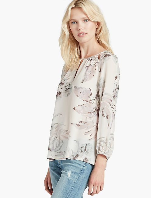 SILK PALM BLOUSE,