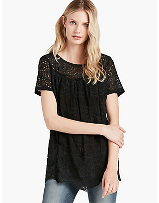 LUCKY SOFT EYELET BLOUSE