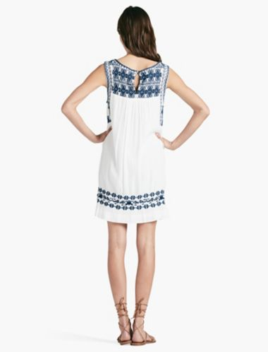 LUCKY EMBROIDERED  DRESS