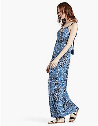 LUCKY INDIGO FLORAL MAXI DRESS