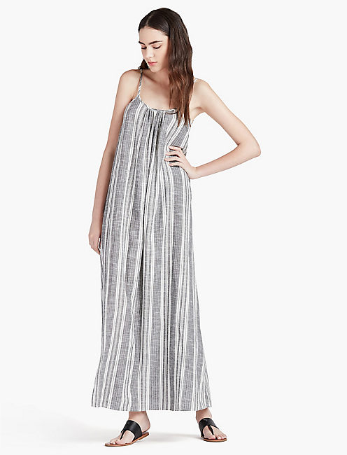 LUCKY STRIPE MAXI DRESS