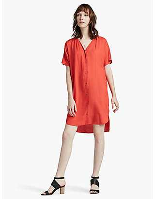 LUCKY DOLMAN SHIRT DRESS