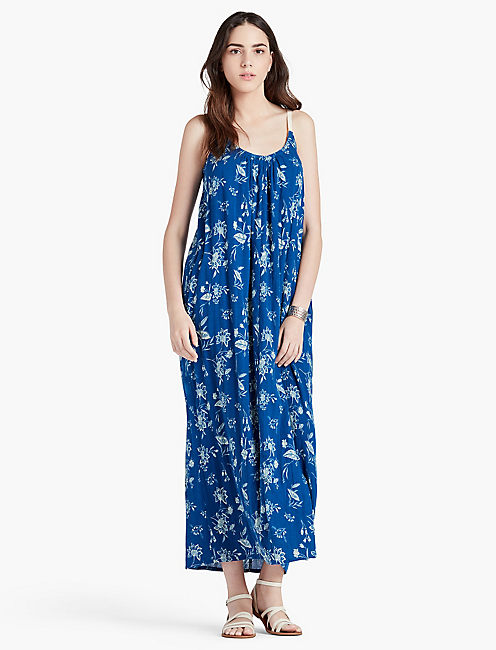 Lucky Vibrant Blue Maxi Dress