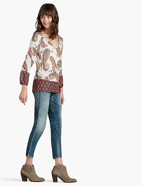 LUCKY PAISLEY PRINT BLOUSE