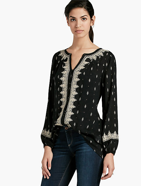 DITSY EMBROIDERED TOP,