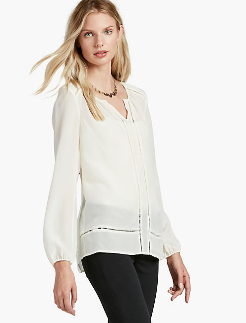 SILK BLOUSE, LUCKY WHITE