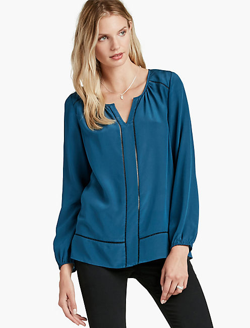 SILK BLOUSE, BLUE ASHES