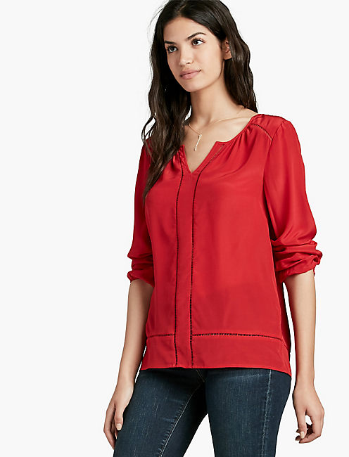 SILK BLOUSE, SALSA