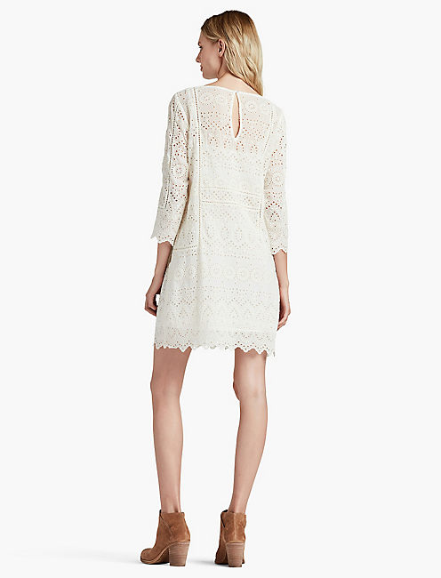 SCALLOPED LACE DRESS,