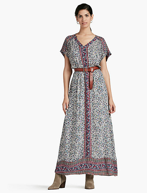 WOODBLOCK MAXI DRESS,