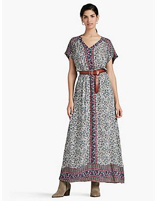 LUCKY WOODBLOCK MAXI DRESS