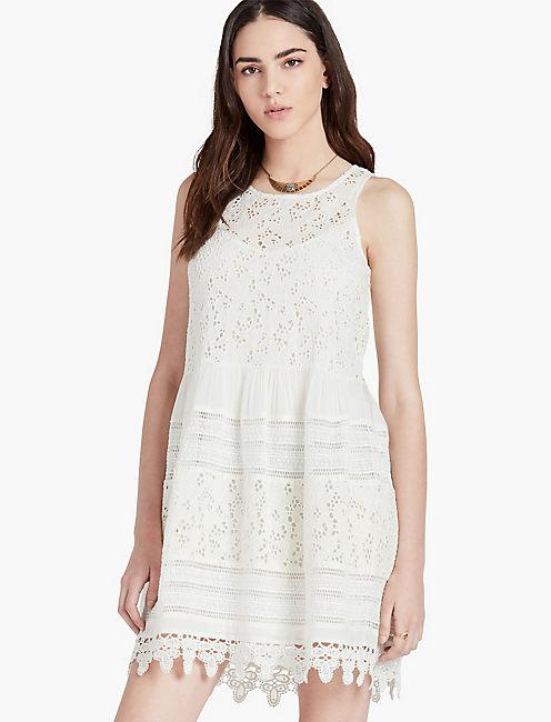 TEXTURED EYELET DRESS,