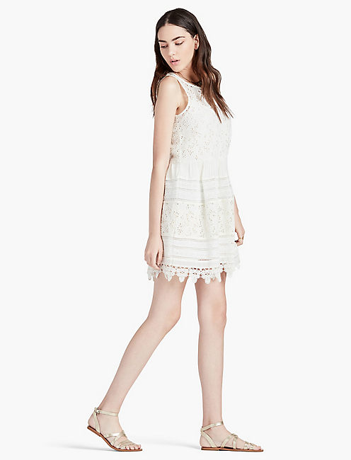 Lucky Textured Eyelet Dress