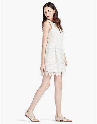 LUCKY TEXTURED EYELET DRESS