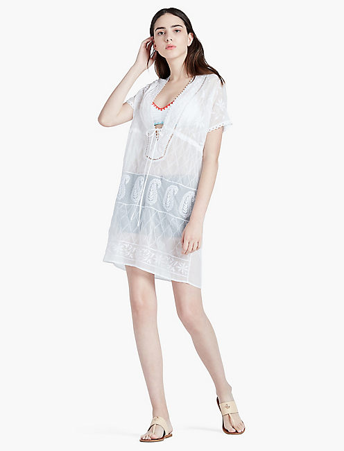 LUCKY EMBROIDERED BEACH TUNIC