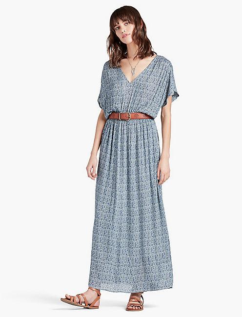 Blue Paisley Dress   Lucky Brand
