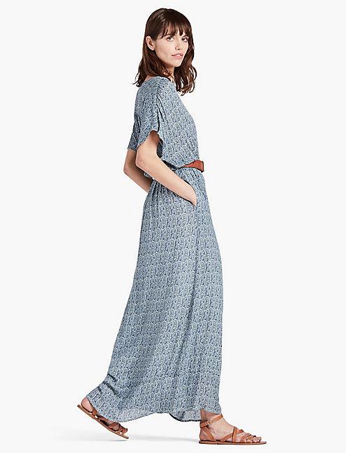 LUCKY BLUE PAISLEY DRESS