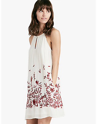 LUCKY FLORAL EMBROIDERED DRESS