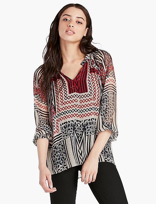 ETHNIC PRINTED BLOUSE,
