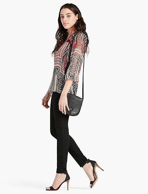 LUCKY ETHNIC PRINTED BLOUSE