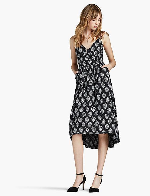 PAISLEY PRINT DRESS,