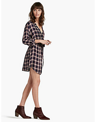 LUCKY BUNGALOW PLAID DRESS