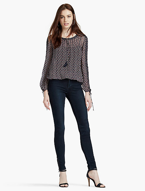 LUCKY BEADED LUREX BLOUSE