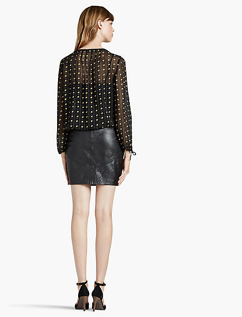 METALLIC DOTTED TOP,