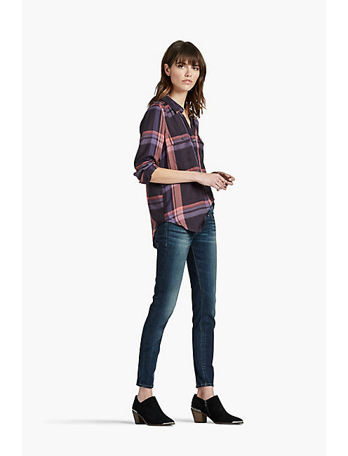Lucky Back Placket Plaid Shirt